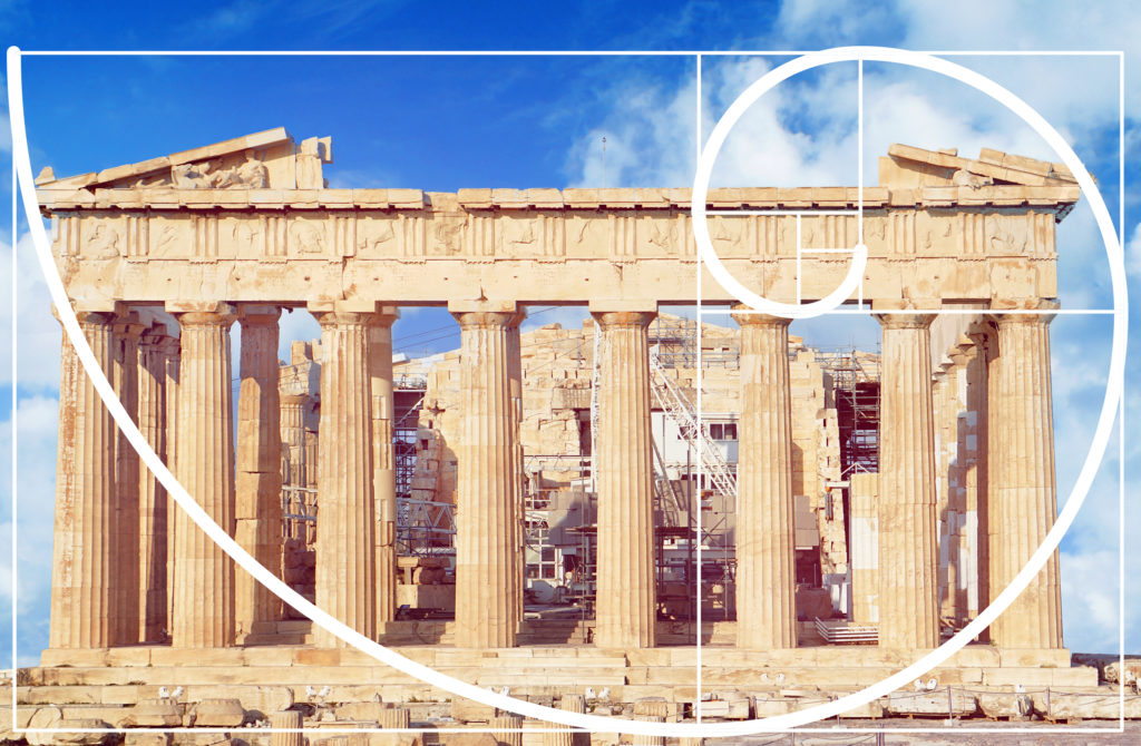 Golden ratio in Parthenon
