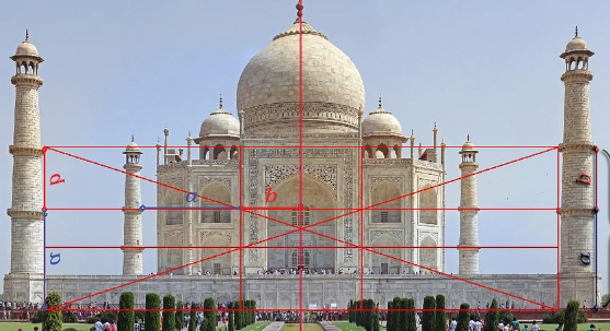 Golden ratio in Taj Mahal