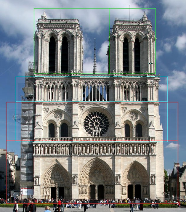 Golden ratio in Notre Dame Paris