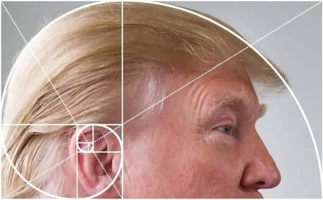 Golden ratio in a sea wave