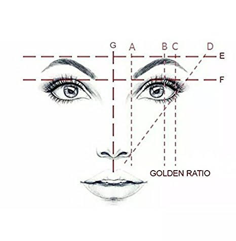 Golden ratio in face